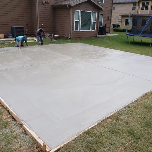 concrete slabs for concrete storage unit