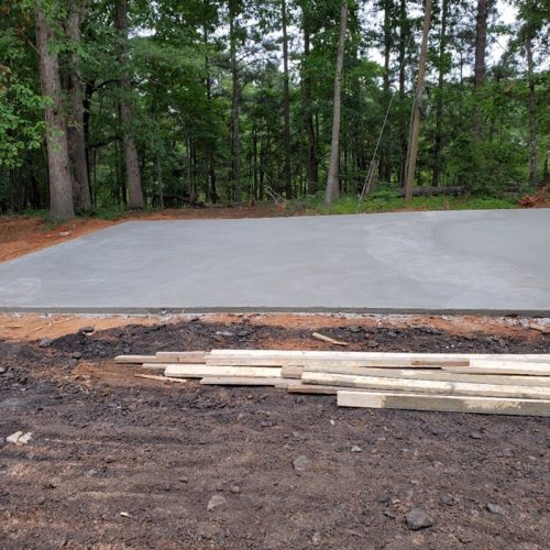 concrete slabs for rv parking pad