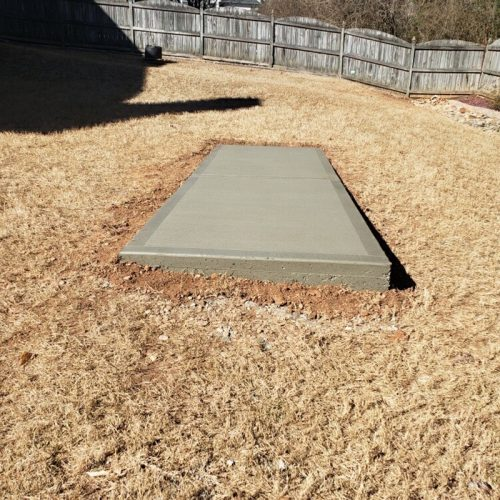 concrete slab for small shed